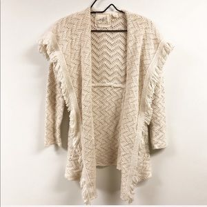 Angel of the North Open Fringe Layered Cardigan